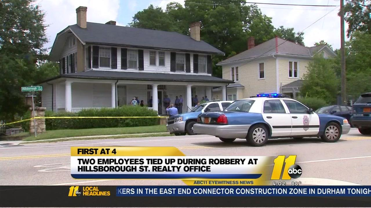 Suspects rob Raleigh real estate agency, tie up employees