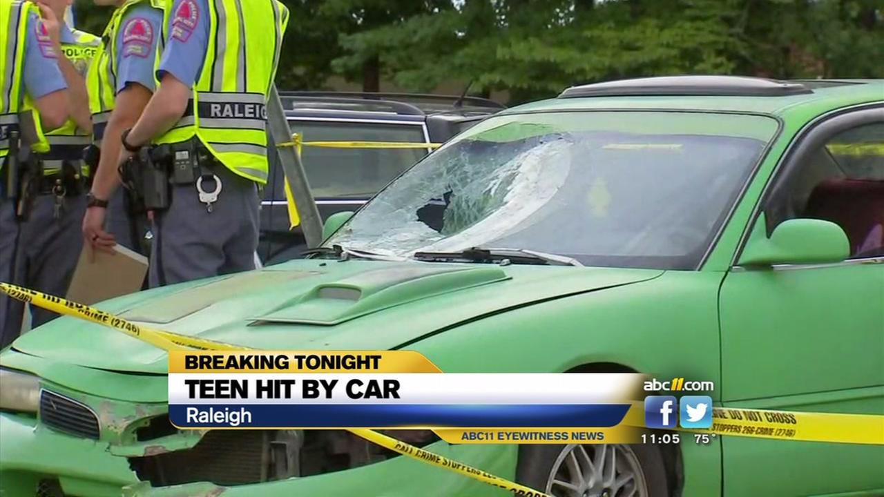 Teen struck by car in Raleigh