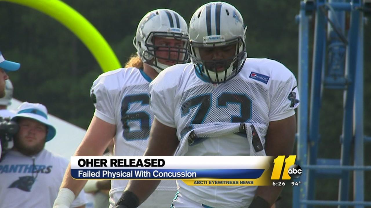 Panthers release Michael Oher