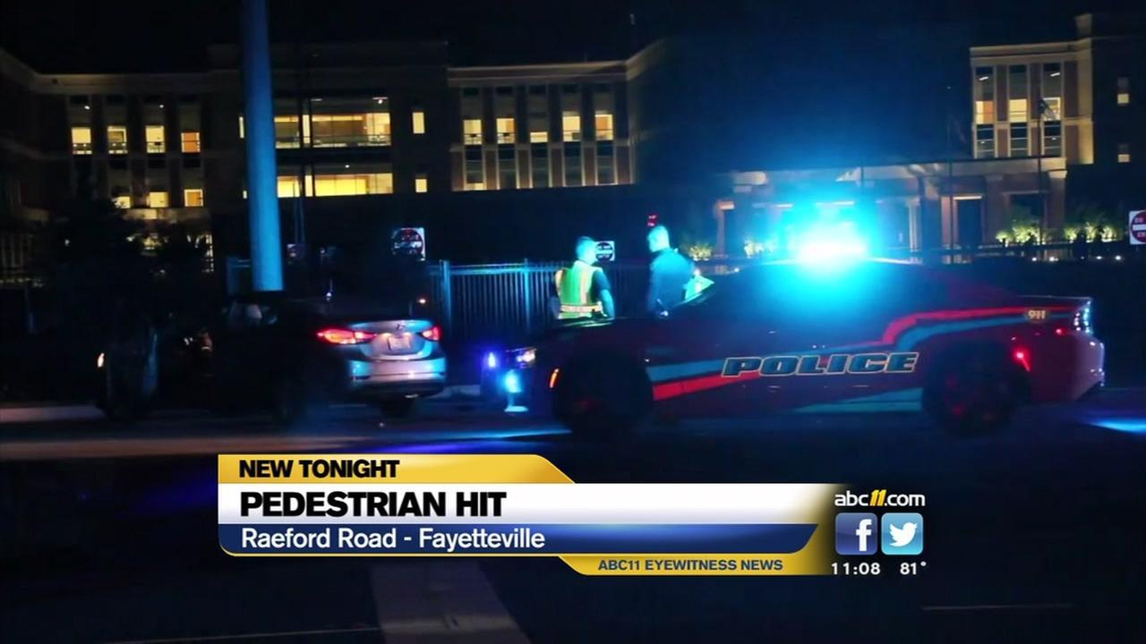 Pedestrian struck in Fayetteville