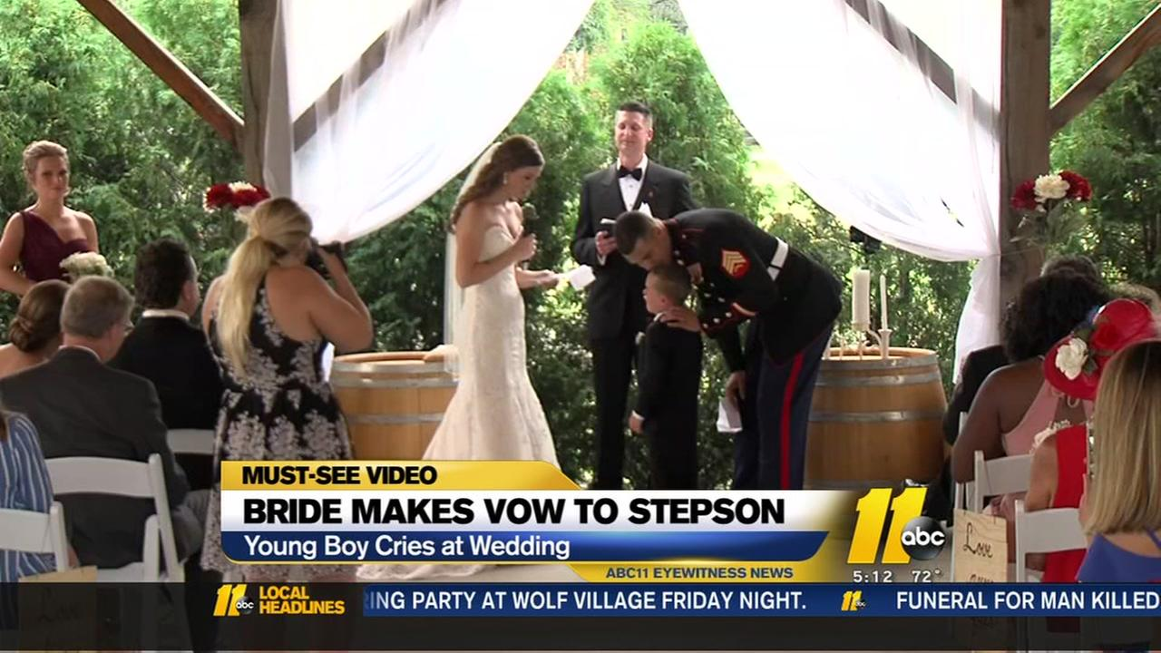 Bride makes vow to stepson