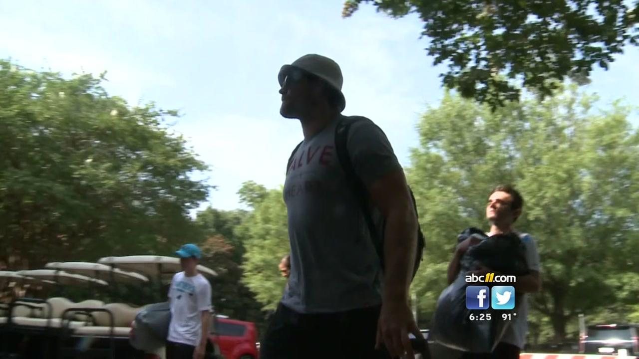 Panthers eagerly arrive at training camp