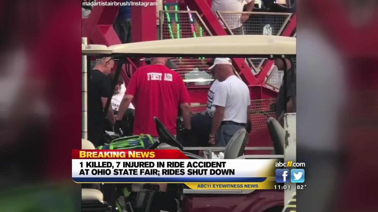 Ohio State Fair ride malfunction leaves 1 dead, 7 injured