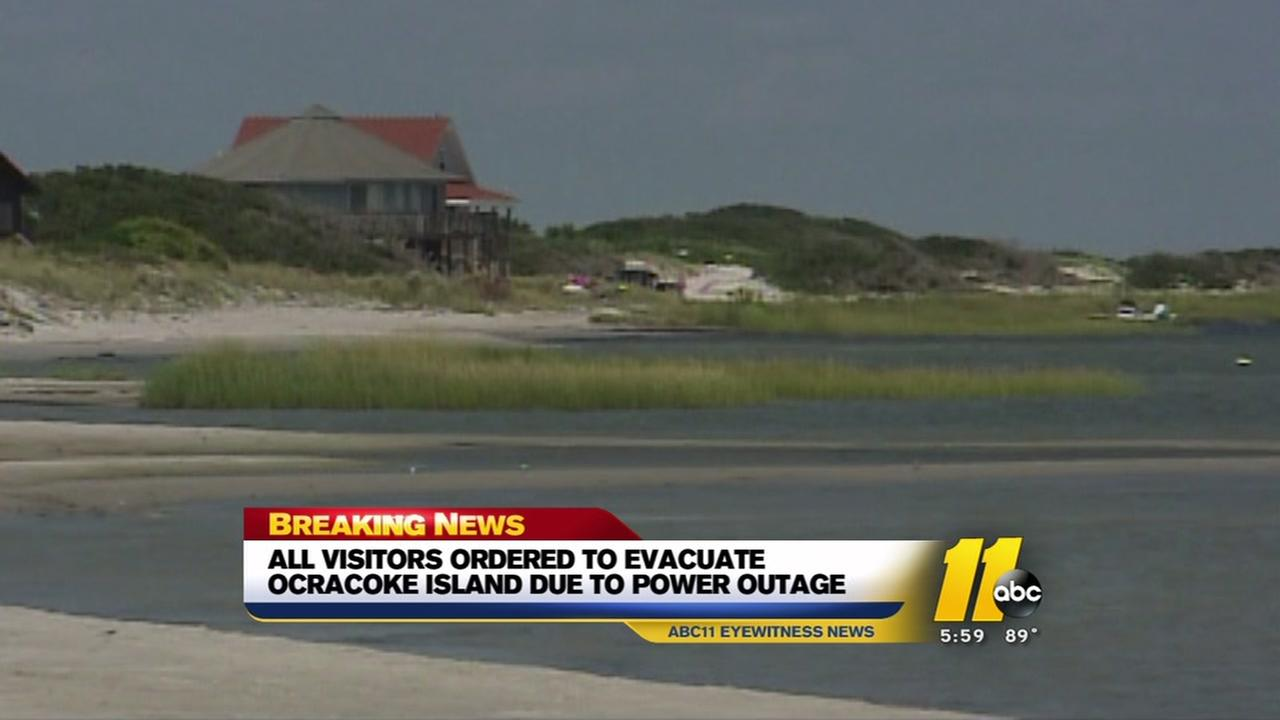 Visitors ordered to evacuate Ocracoke Island