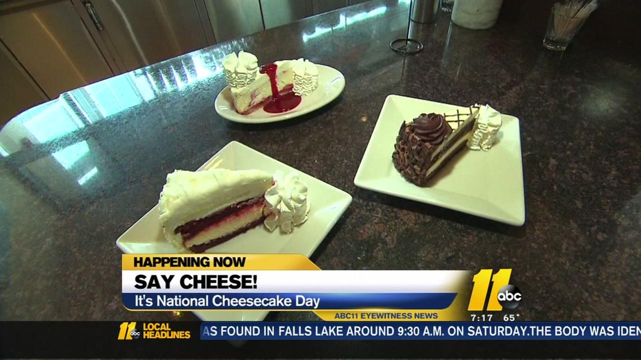 Its national cheescake day.