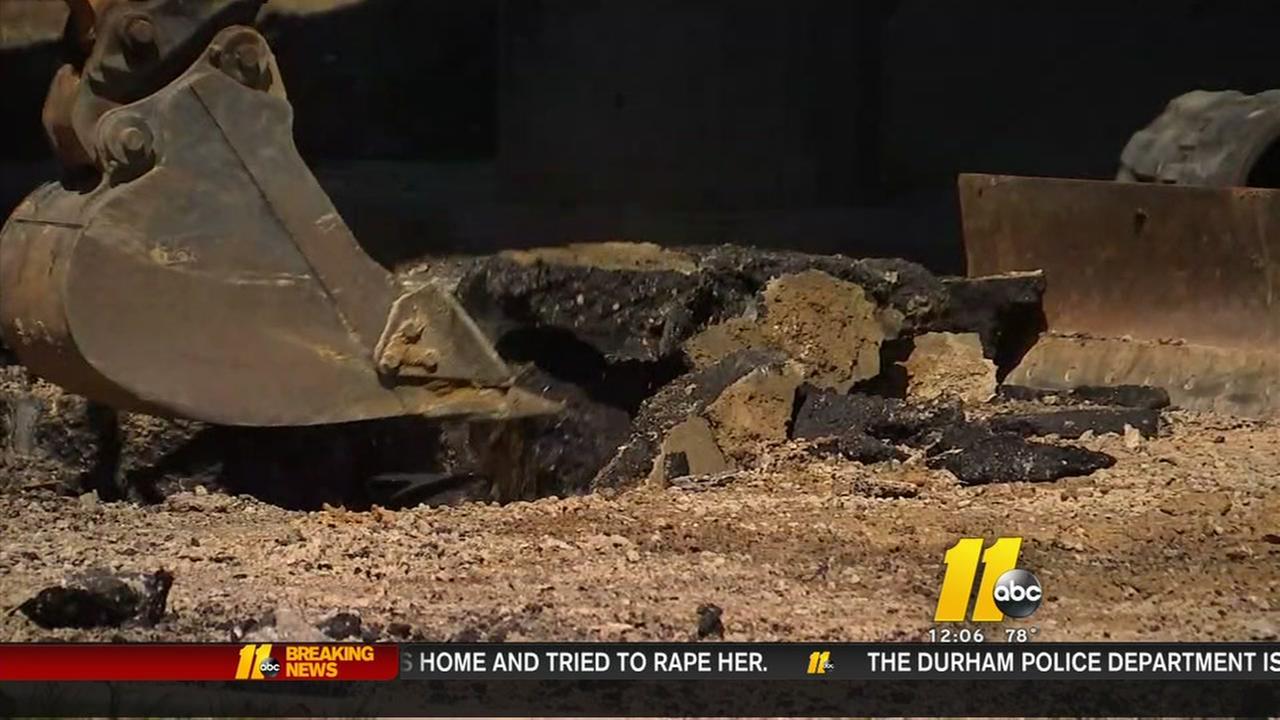 Water main break closes major Raleigh road