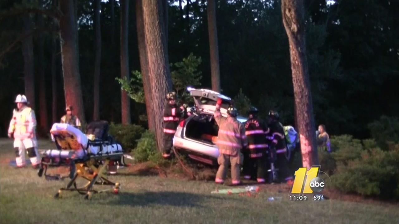 Man cut out of car after Johnston County crash