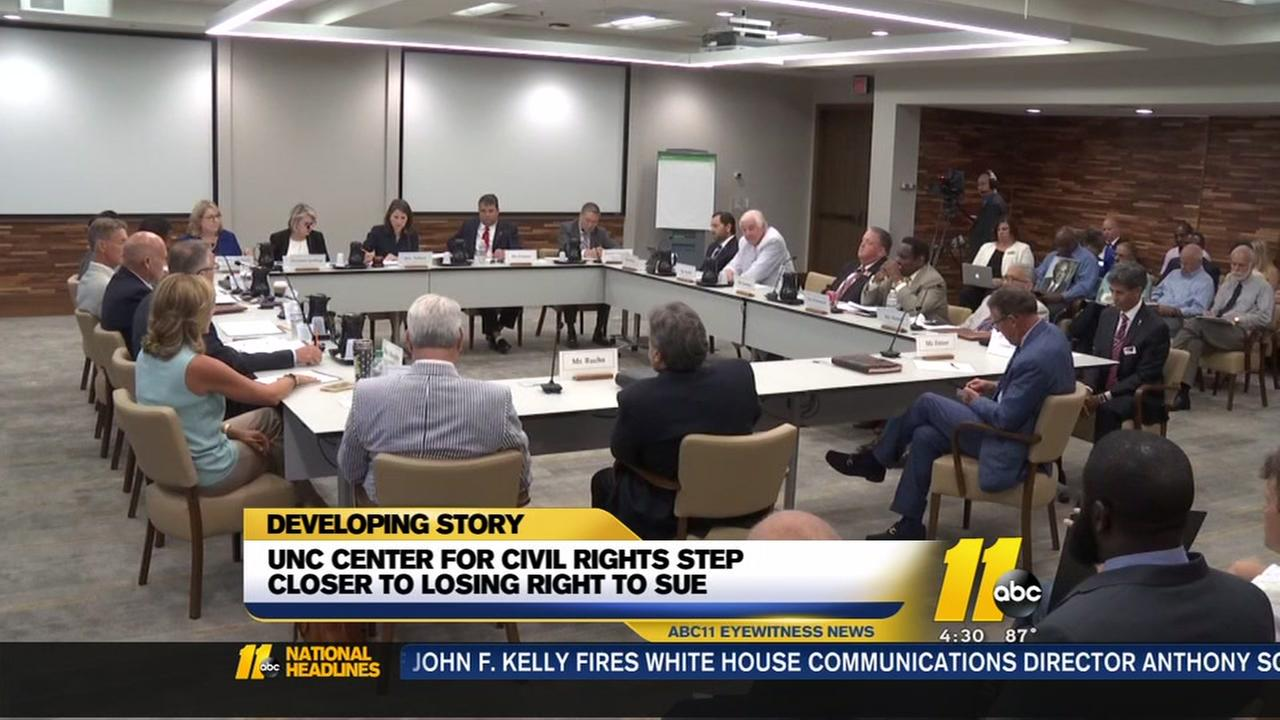 Board rules in UNC Civil Rights Center case