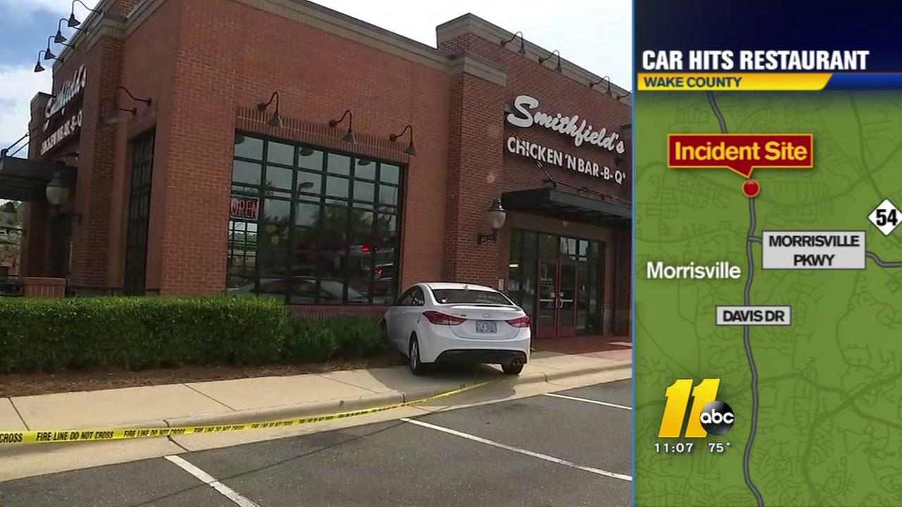 Car hits restaurant in Morrisville