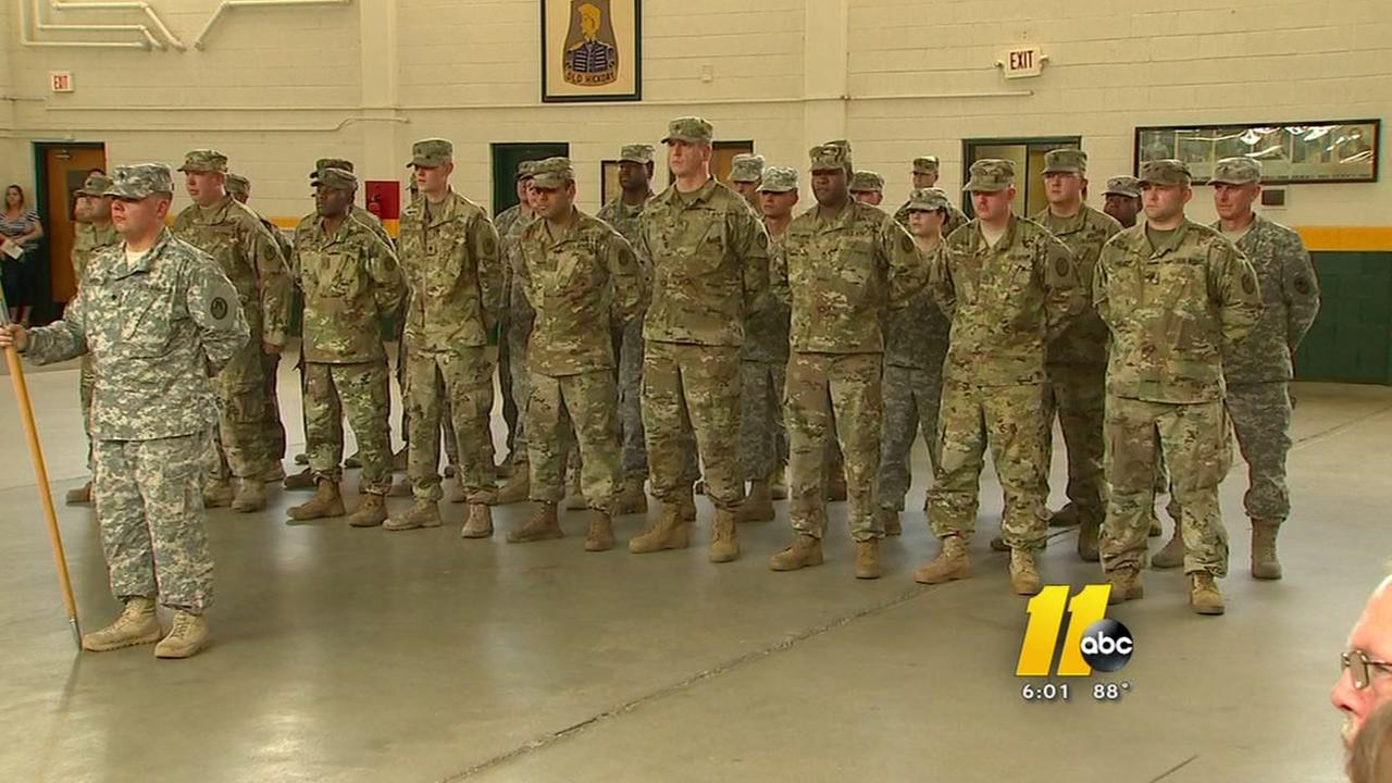 Local military police unit says goodbye