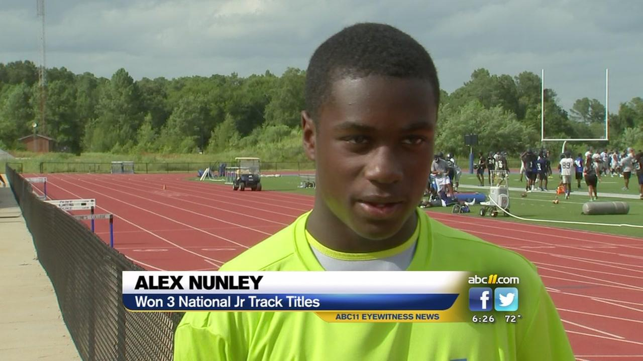 Alex Nunley brings home 3 National Jr. Track titles