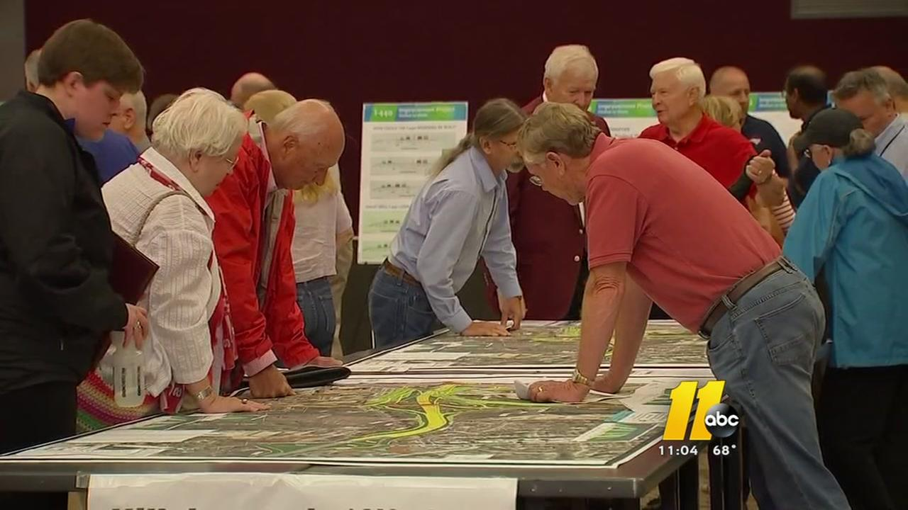 Crowd voices concerns about I-440 widening project