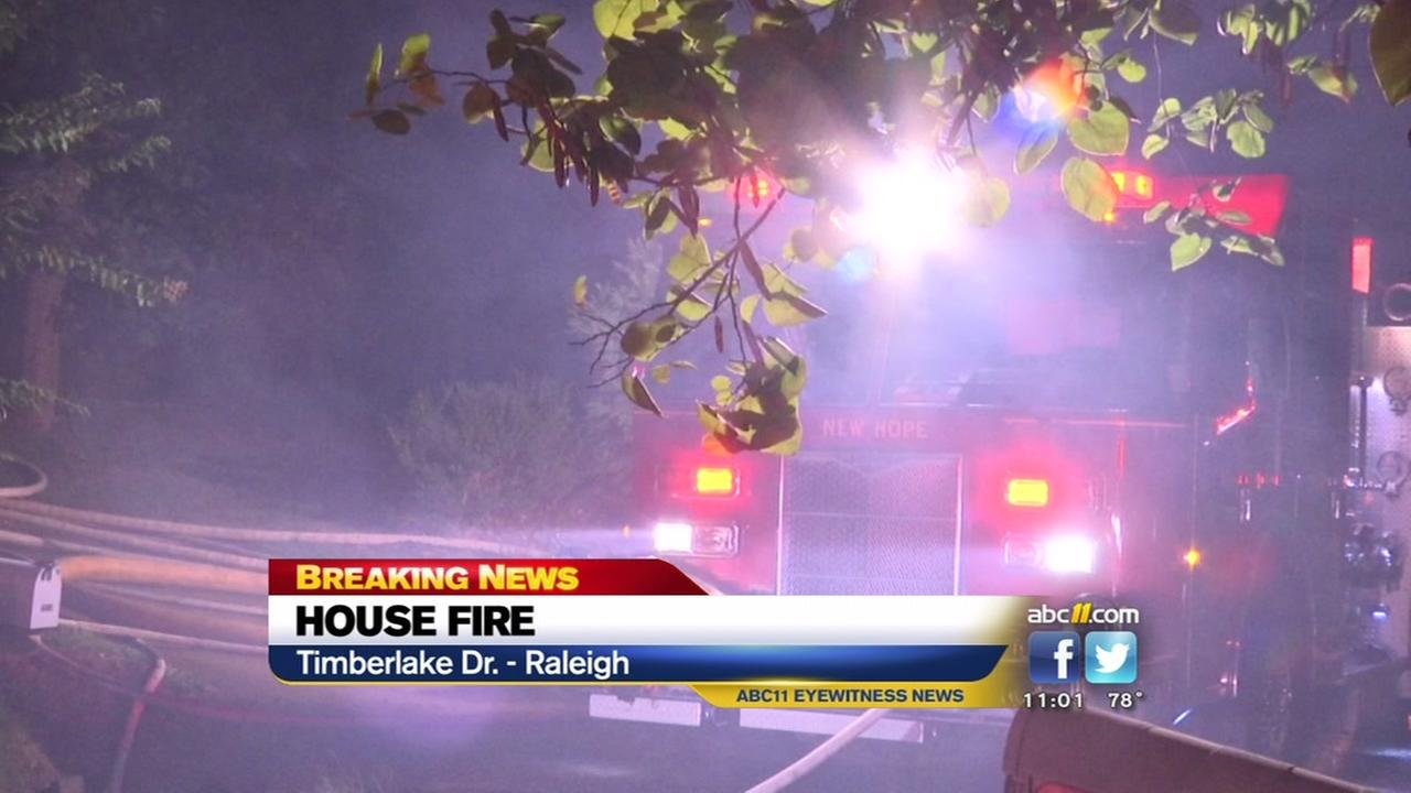 House fire on Timberlake Drive