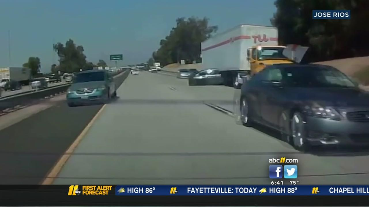 Hit-and-run caught on camera