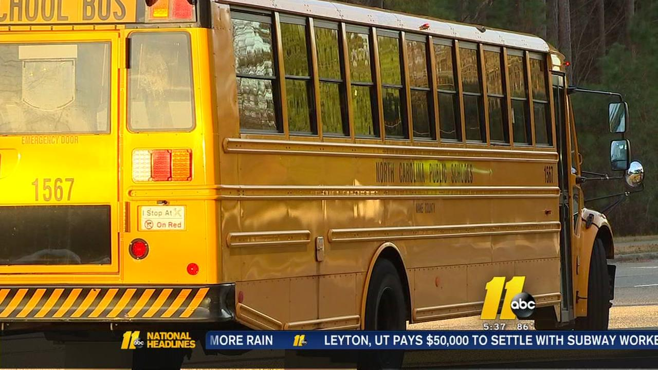 Wake County parents claim school notified them last minute of school bus stop change