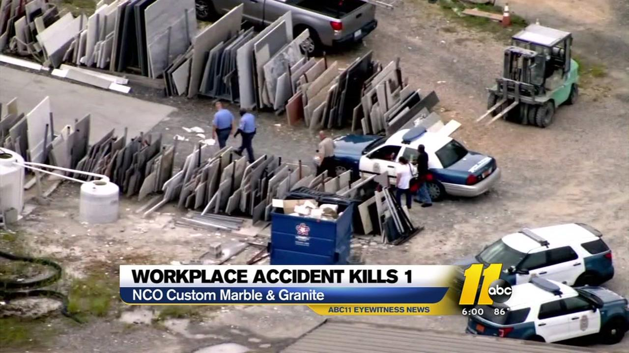 1 dead in workplace incident in Raleigh