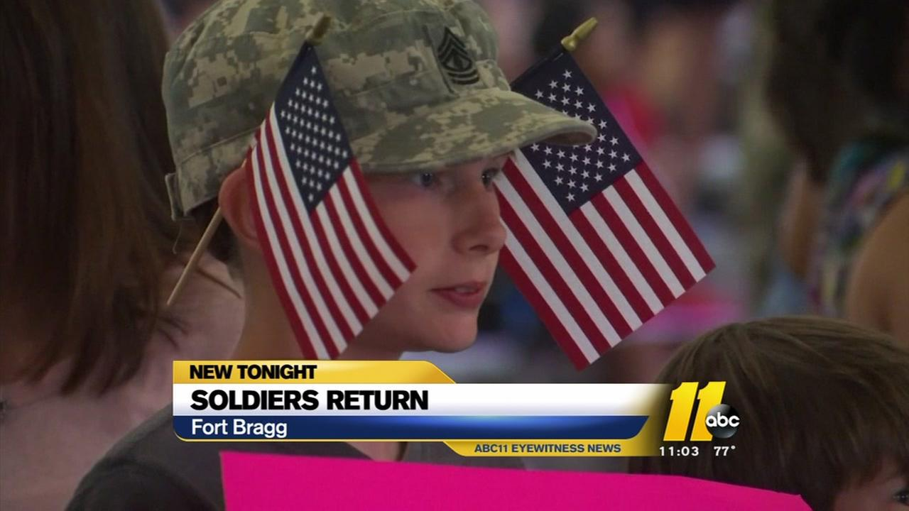 Joyful reunion as 18th Airborne troops return