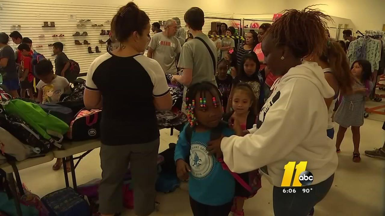 Raleigh Rescue Mission gives over 2,000 backpacks to kids in need