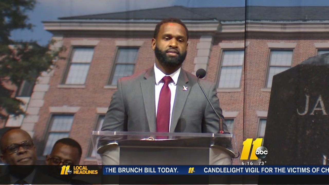 Wounded officer speaks at NCCU