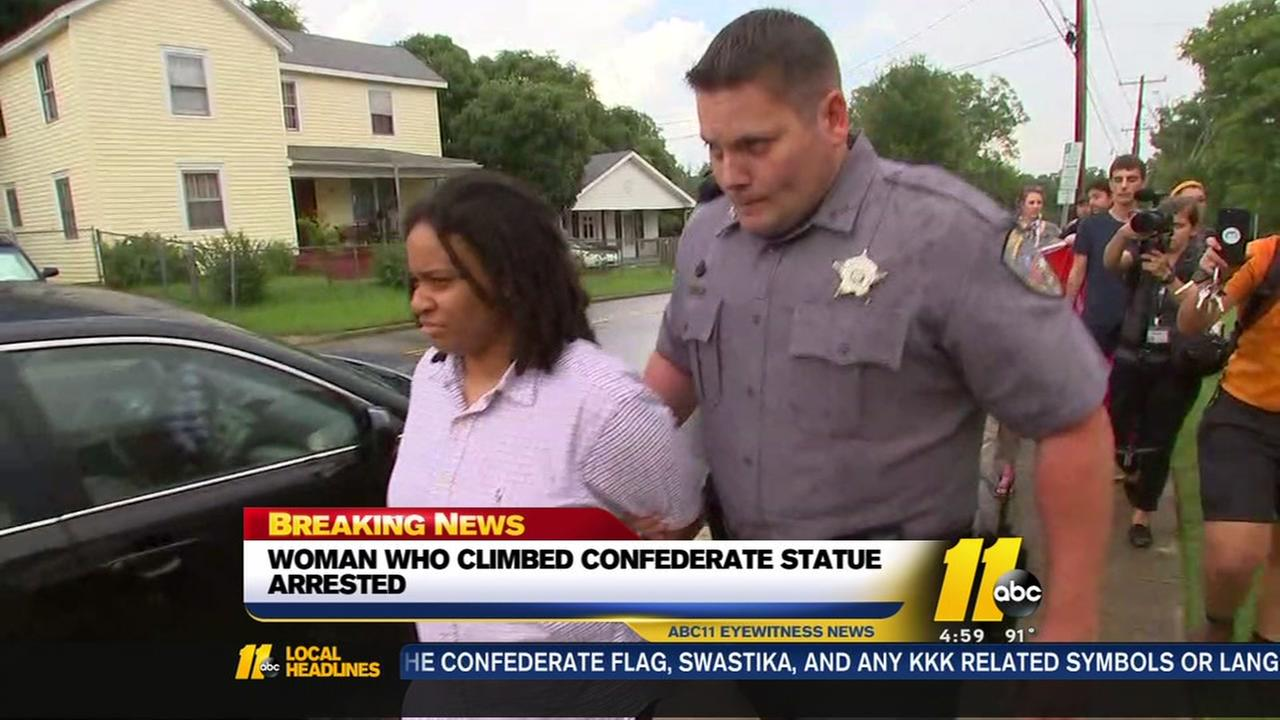 Protester who climbed Confederate statue arrested