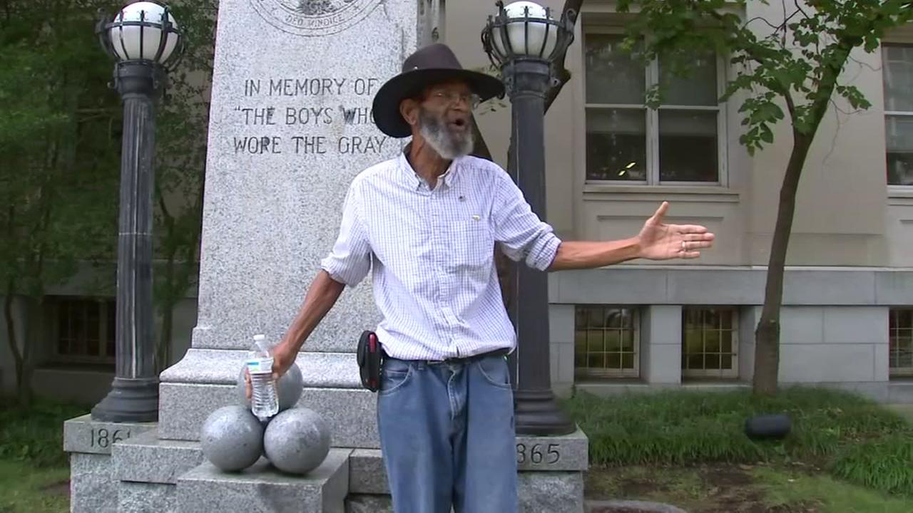 The debate over the Confederate statue ripped down