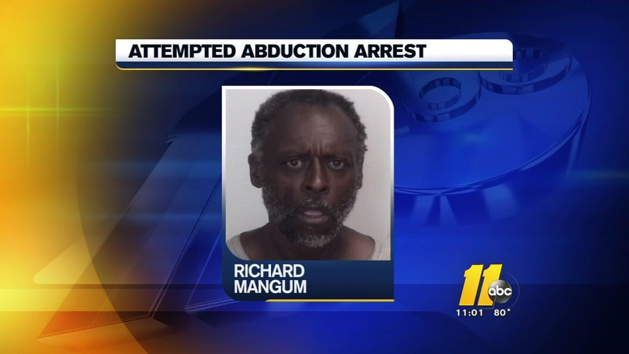 Attempted abduction arrest in Chapel Hill