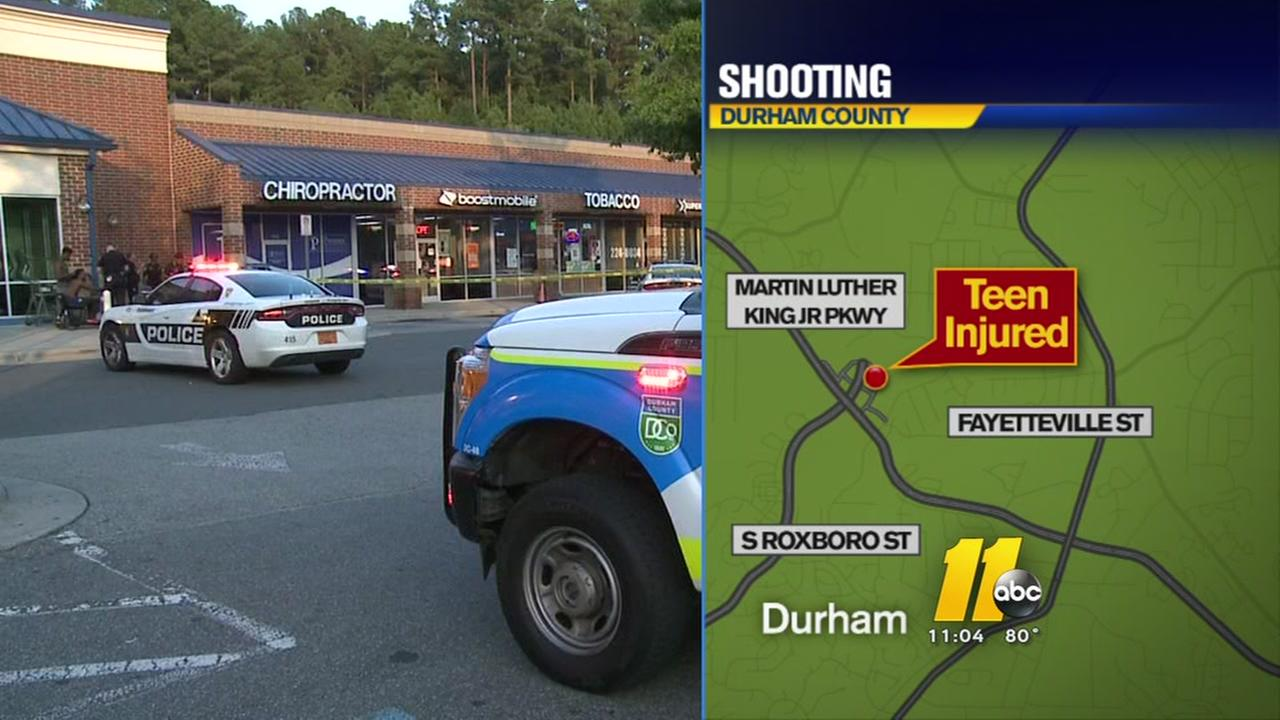 Teen hurt in Durham shooting