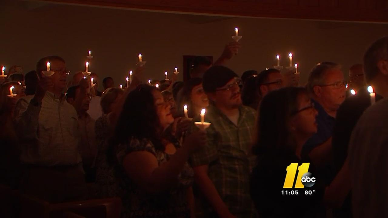 Vigil against hate held at Raleigh church