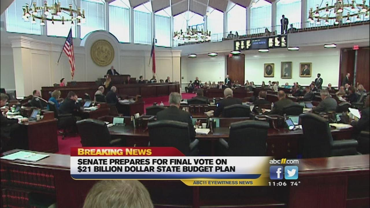 NC Senate gives tentative approval to state budget