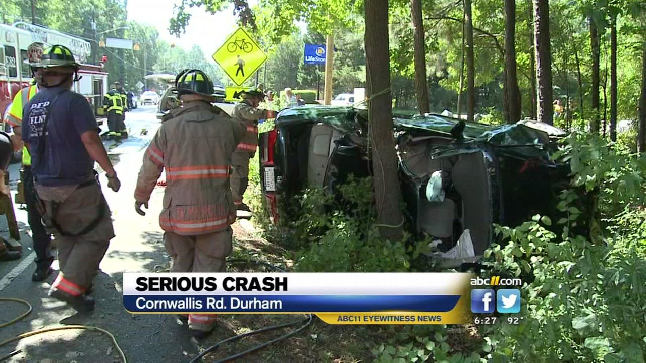 Serious crash in Durham