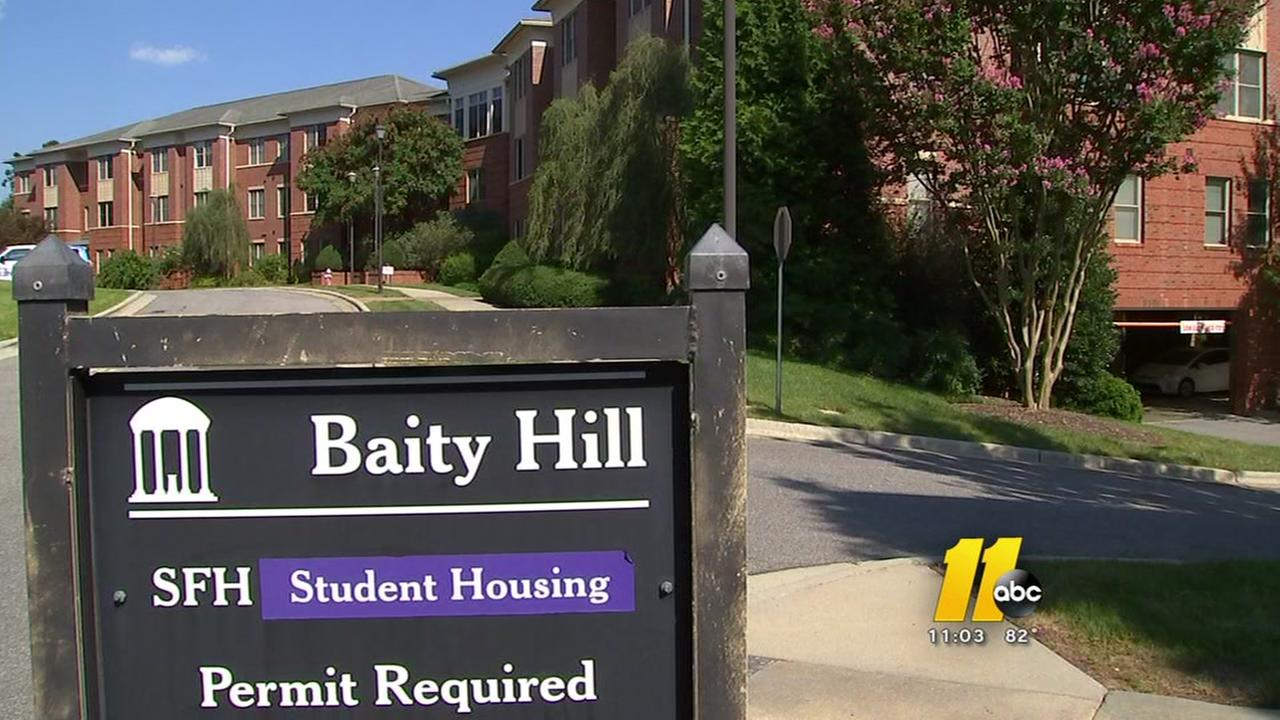 Child dead after domestic violence at UNC family housting