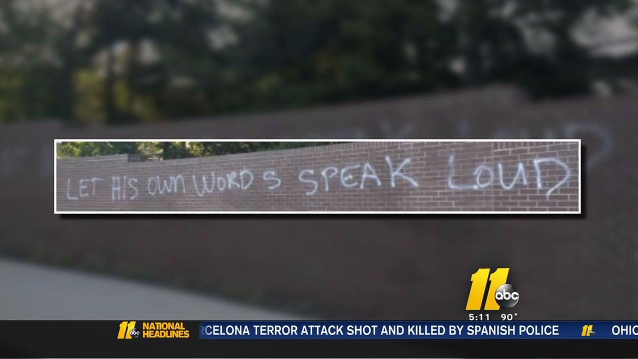 Graffiti at MLK Memorial Gardens not hate crime, police say