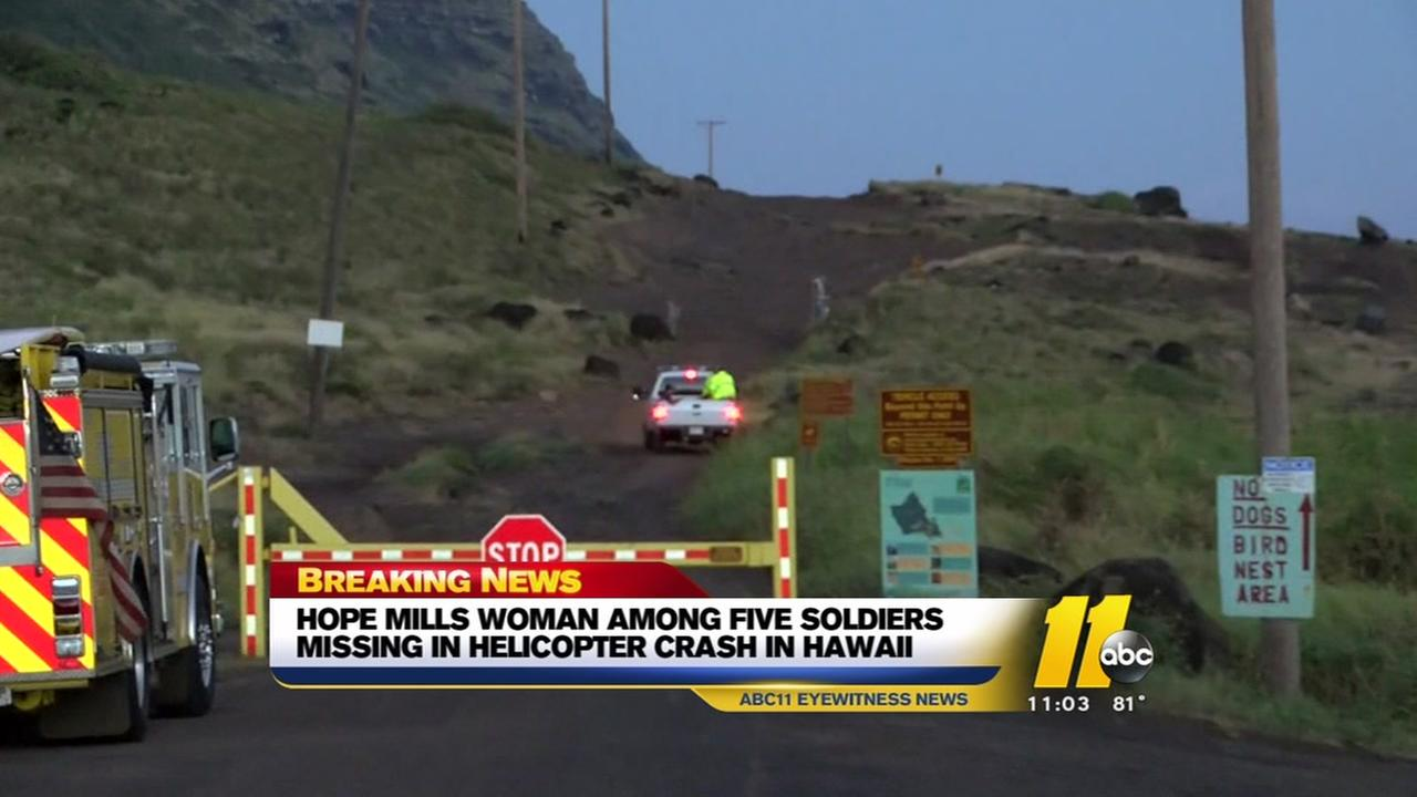 Hope Mills soldier among missing in helicopter crash