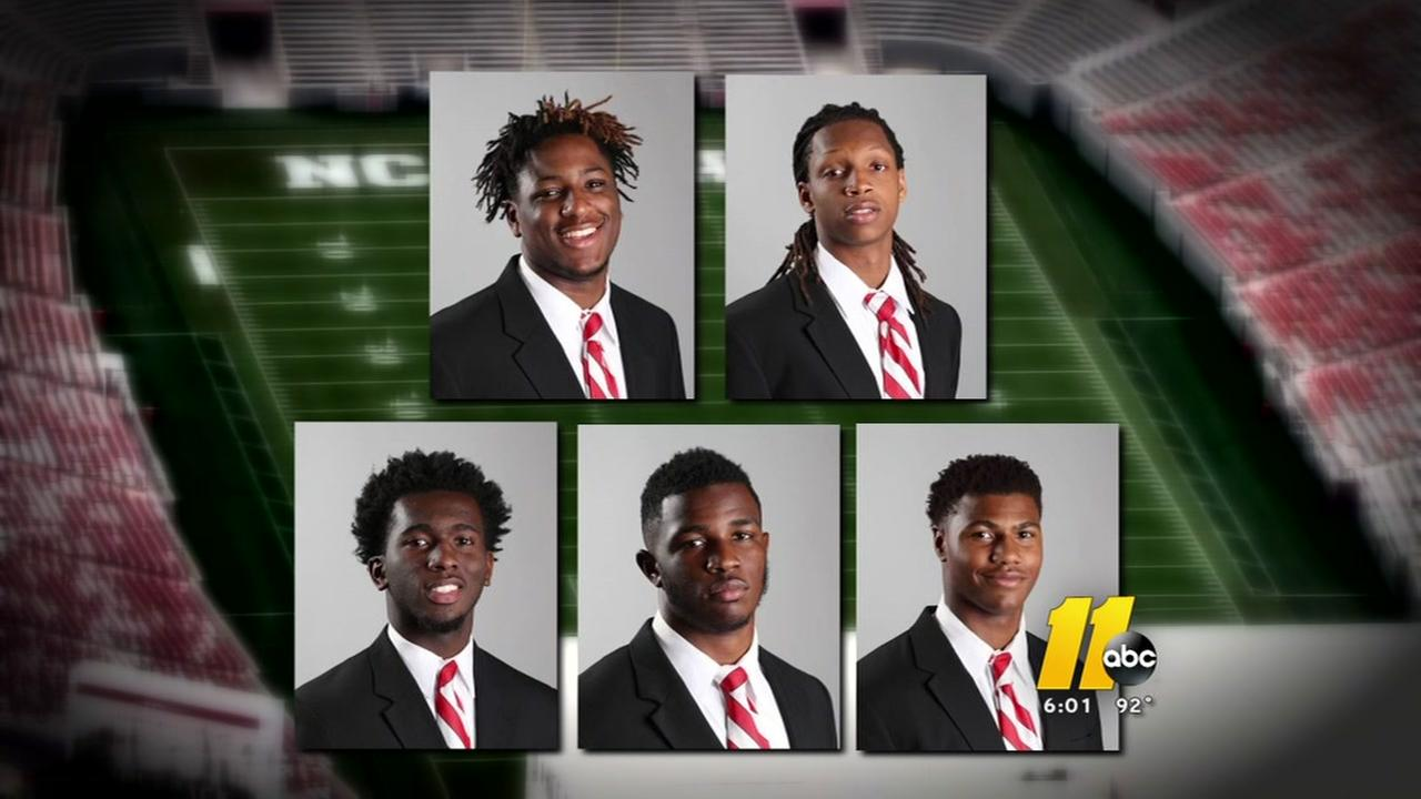 NCSU football players disciplined after on-campus party