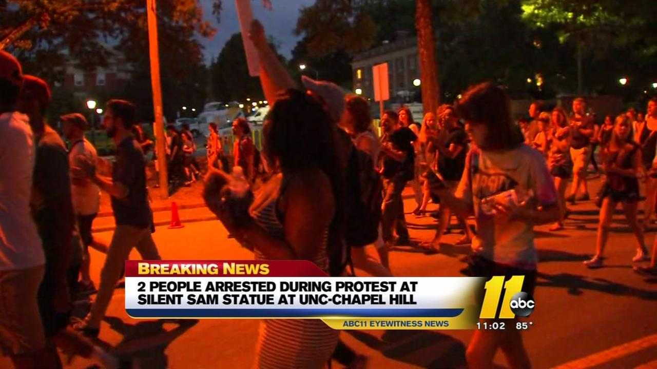 Arrests made during Silent Sam protests