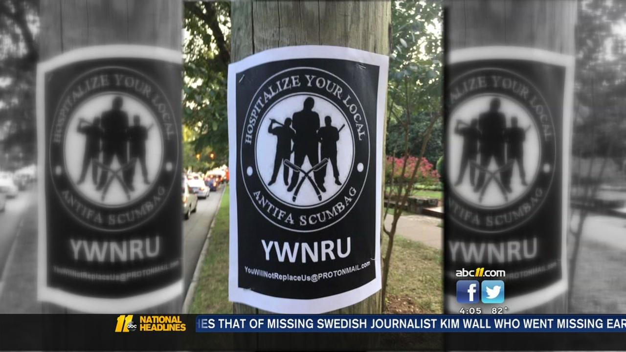 The city of Durham is sending out an alert about disturbing fliers popping up around downtown.