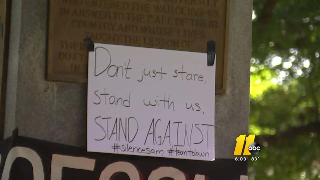 UNC students continue to protest Silent Sam