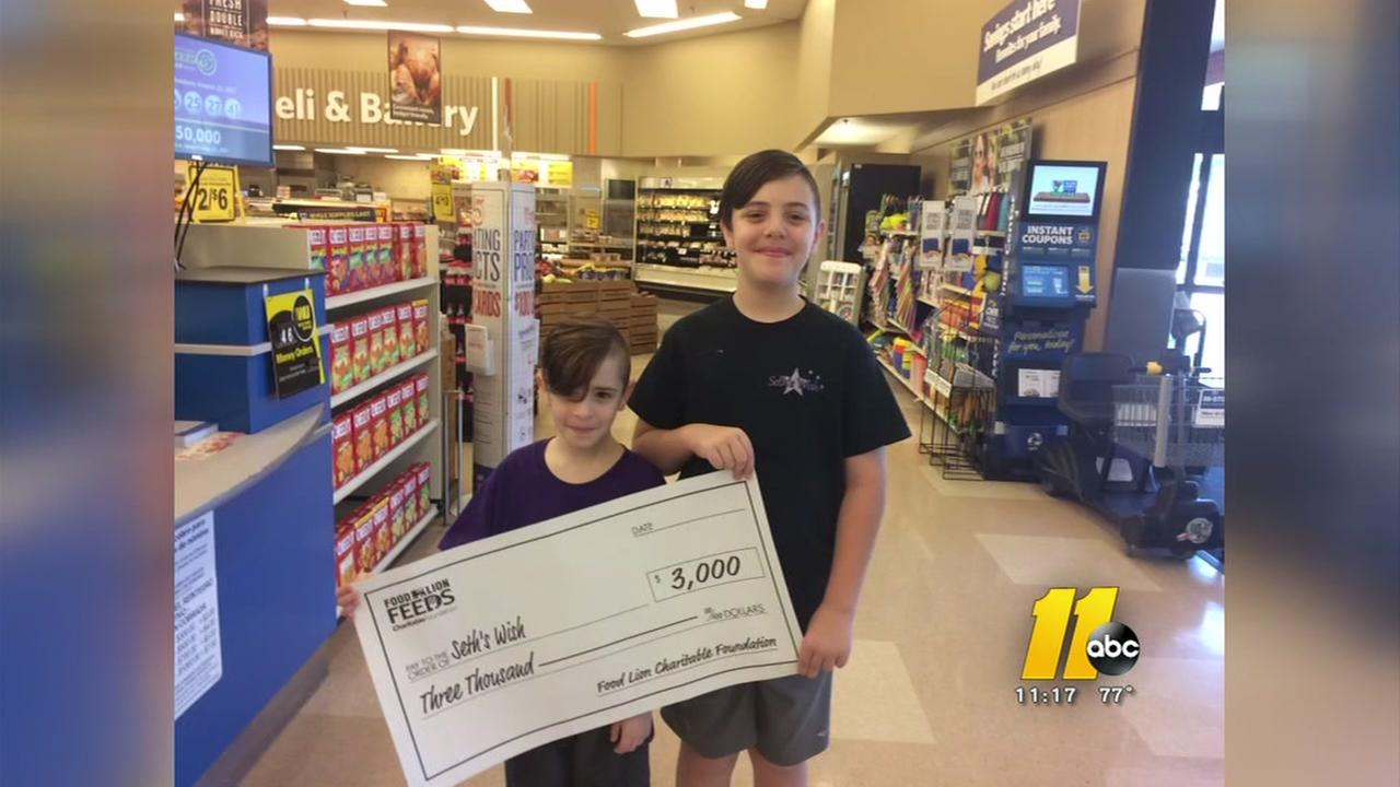 Seths Wish got a big boost from Food Lion.