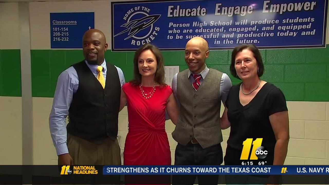 ABC11s Tim Pulliam, visits his former high school and teachers