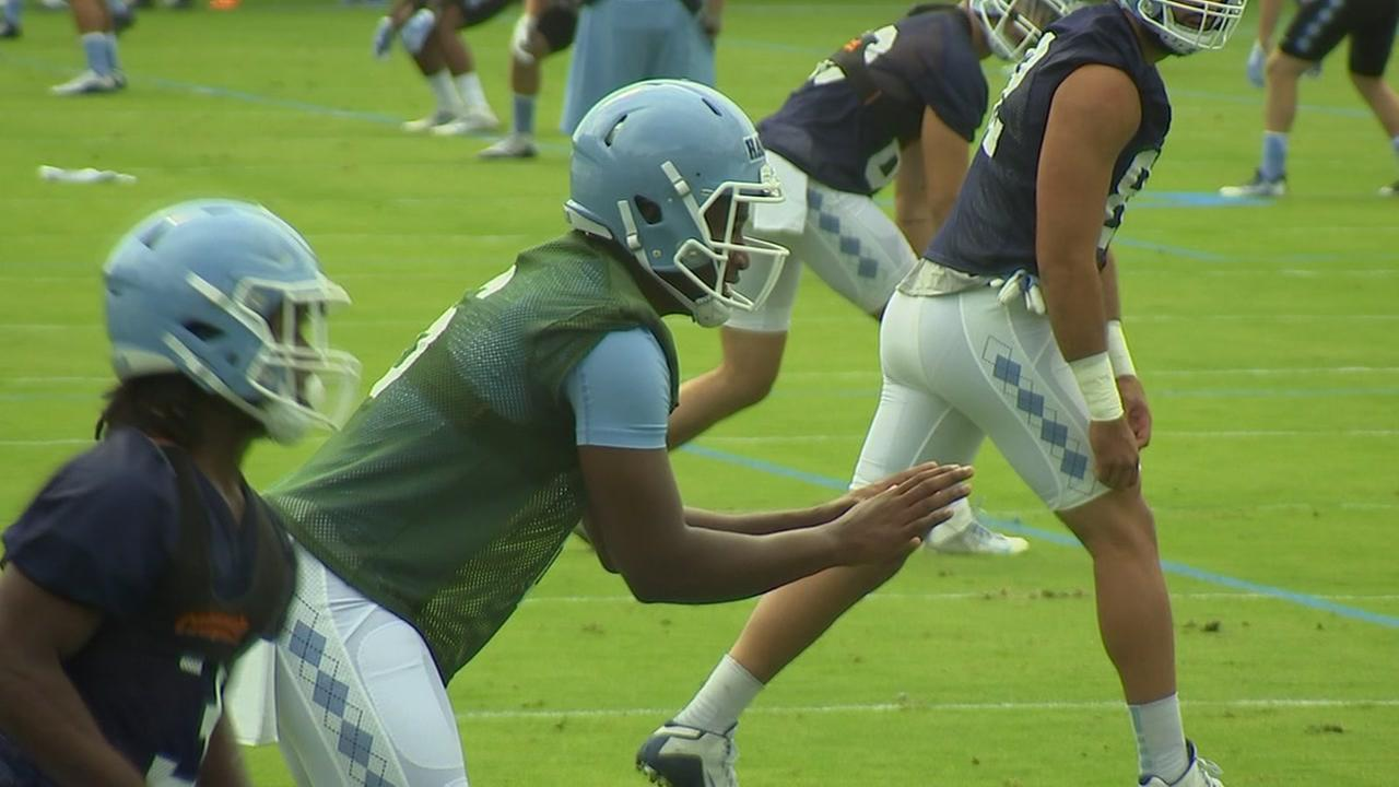UNC coach Larry Fedora discusses the QB position