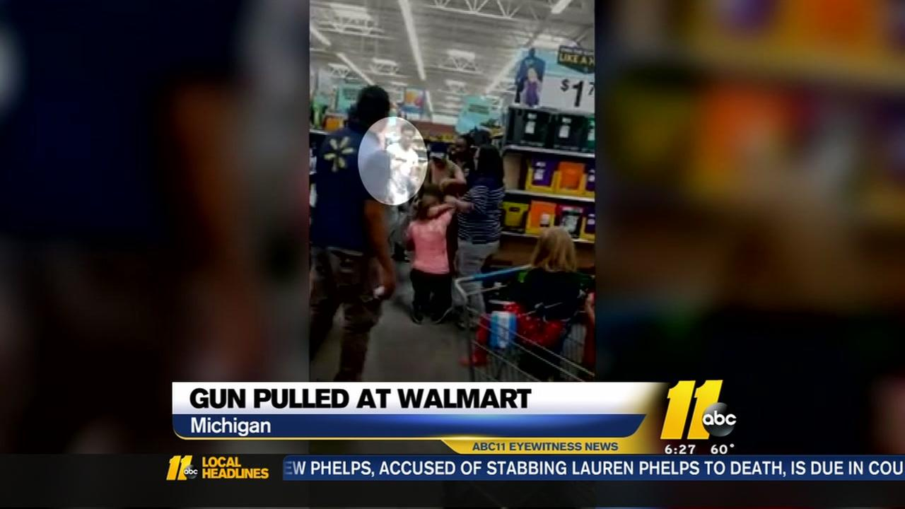 Gun pulled at Walmart over school supplies