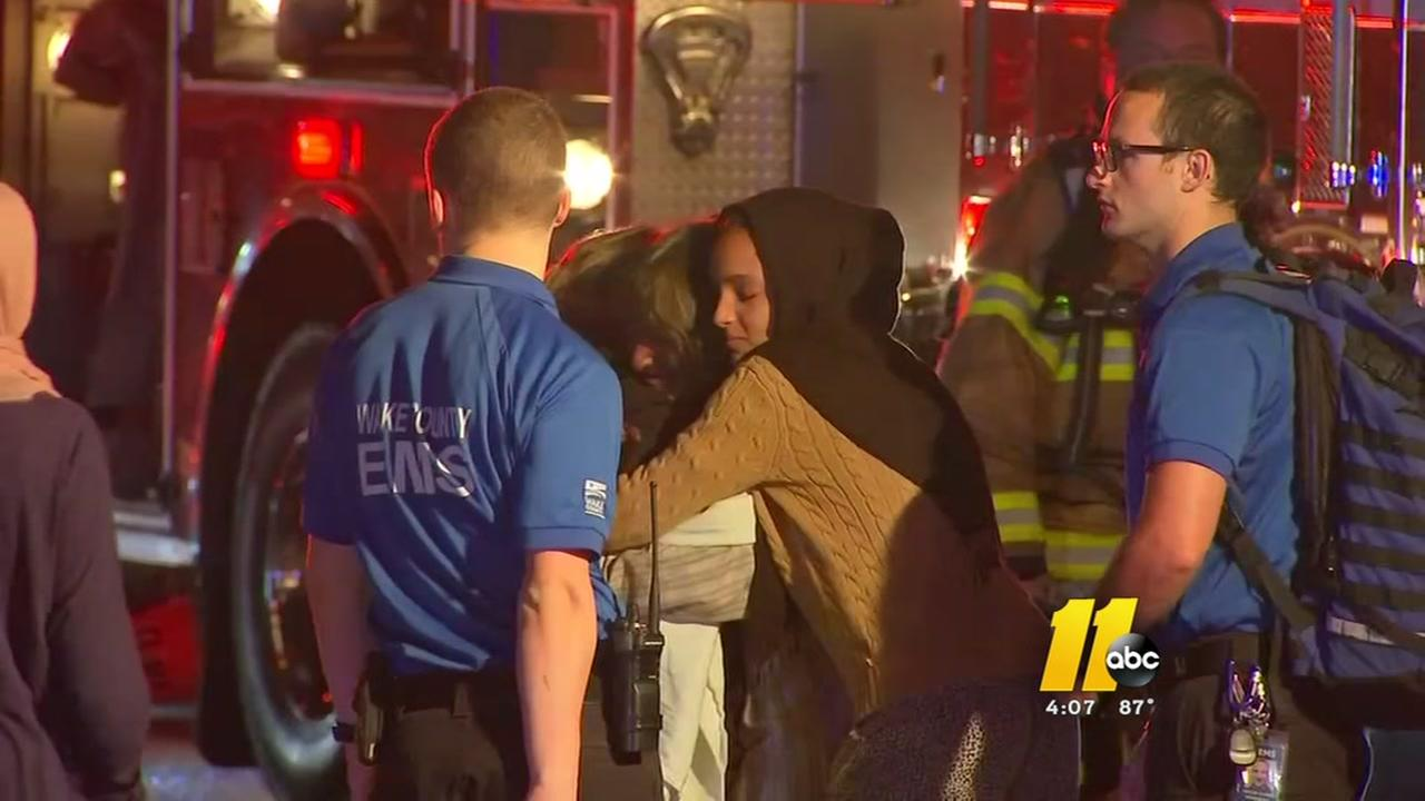 Three burned in Wake County fire