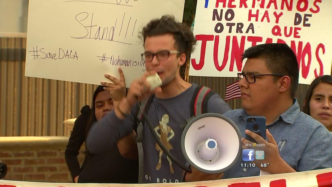 Demonstrators protest DACA decision