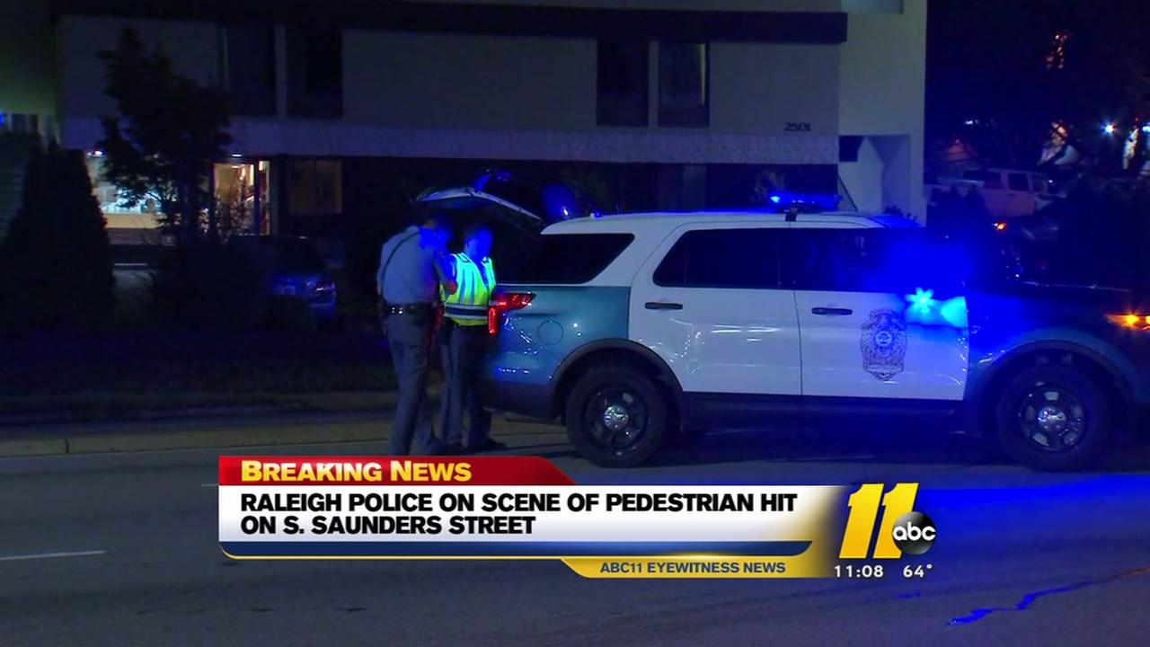 Pedestrian injured in Raleigh