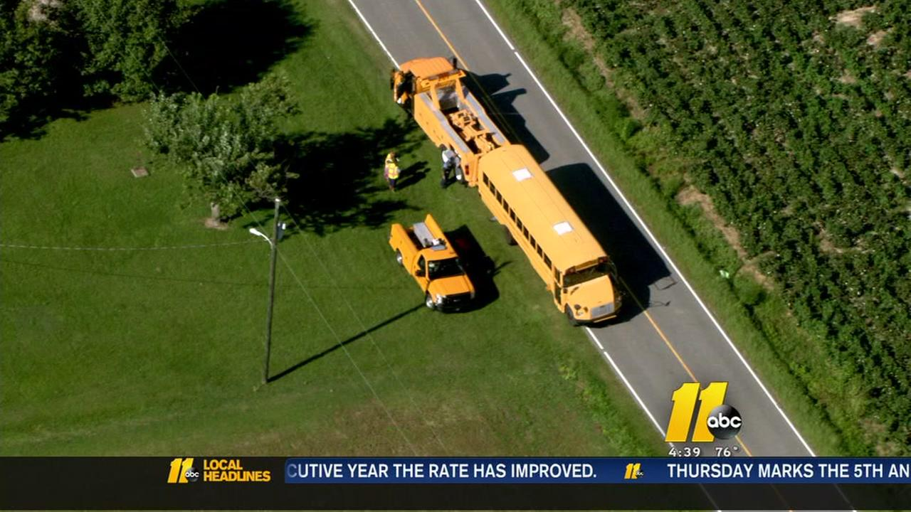 Chopper 11 HD over school bus crash