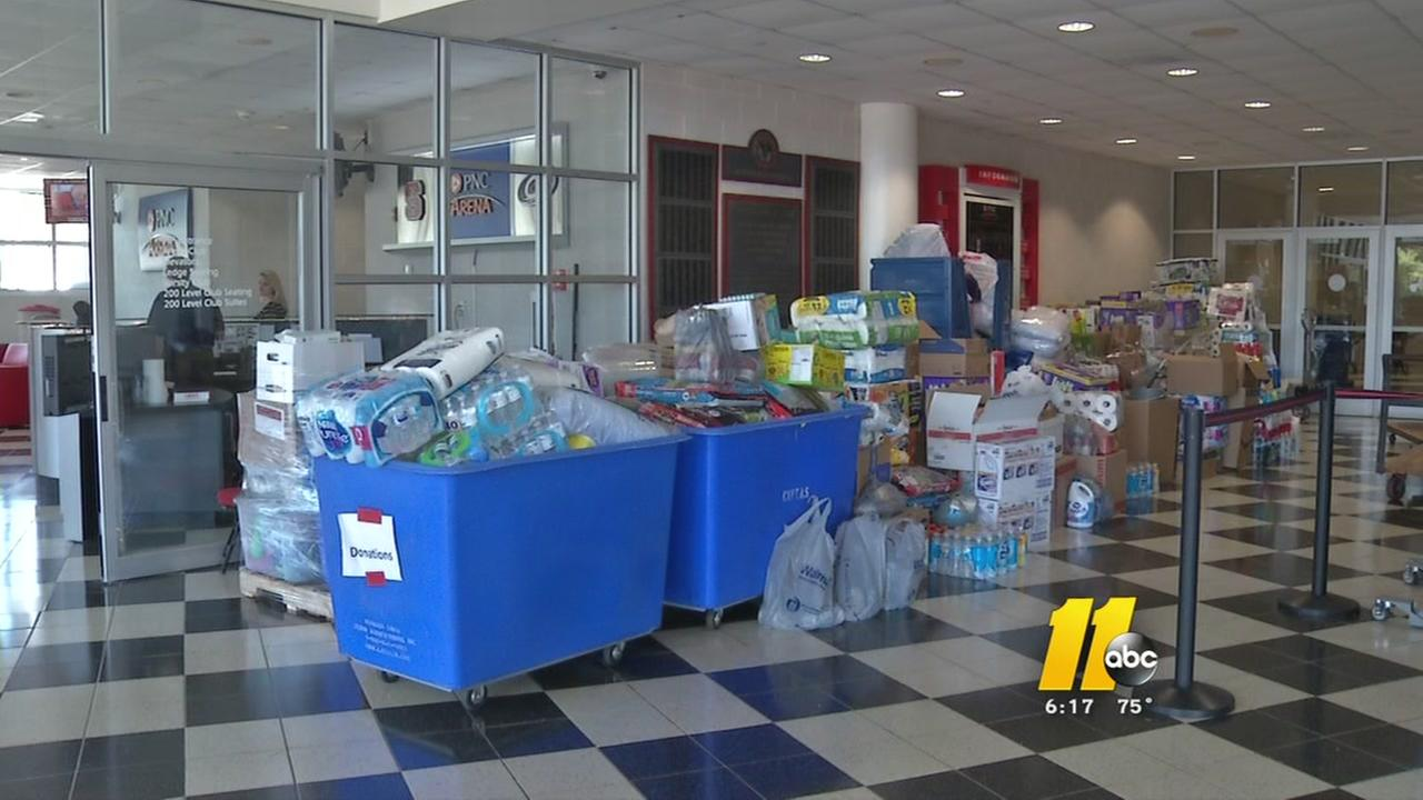 Carolina Hurricanes load up supplies for Harvey relief