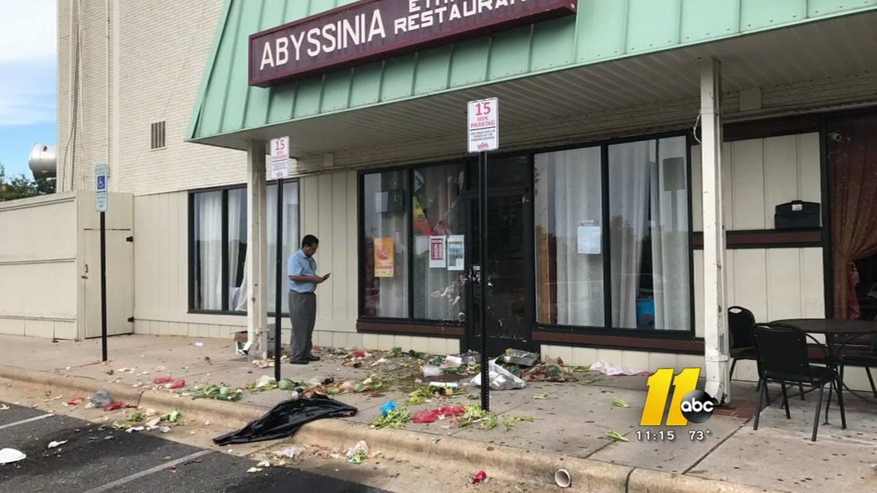 Vandals strike Raleigh restaurant