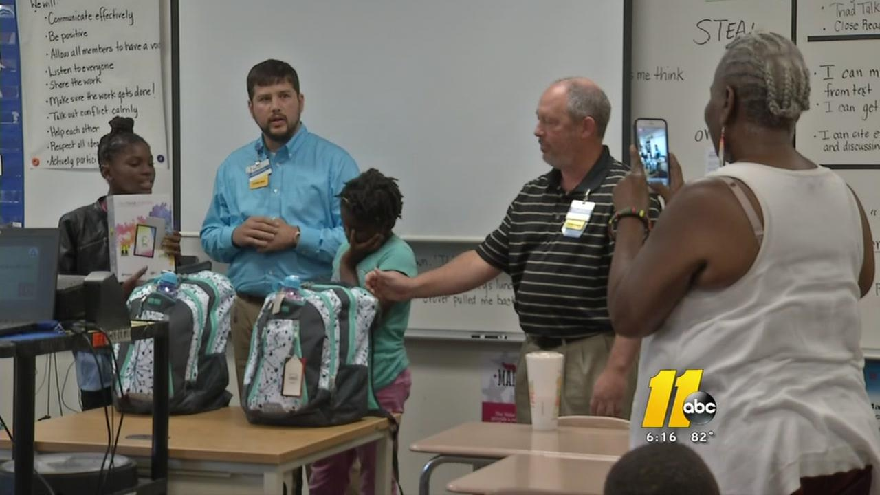 Walmart surprises Lemonade Kids with school supplies