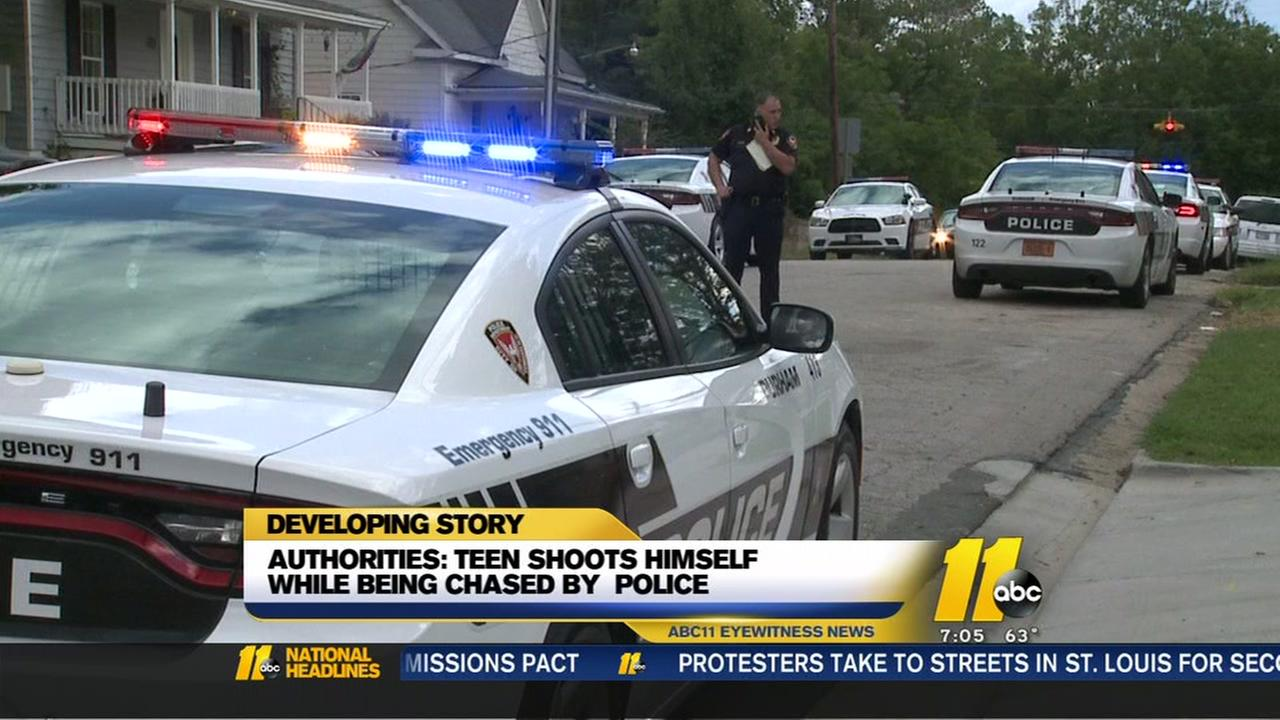 Man shoots himself in Durham while police chase him
