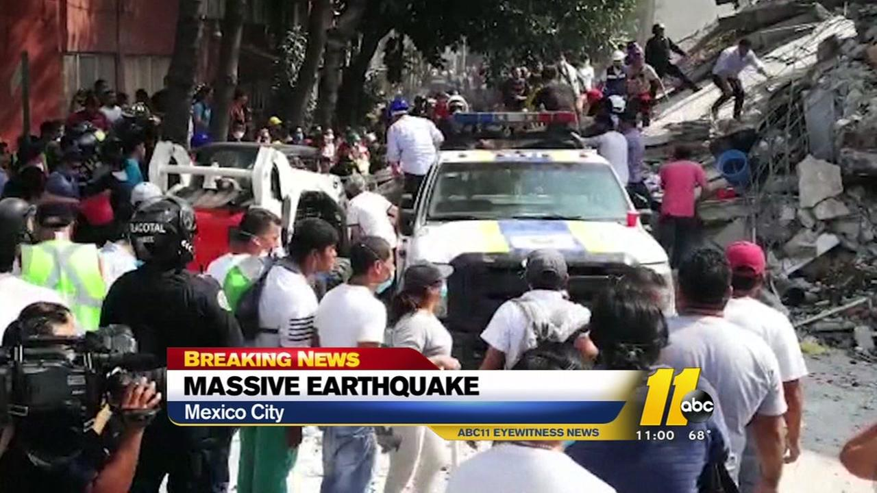 Massive earthquake rocks Mexico City